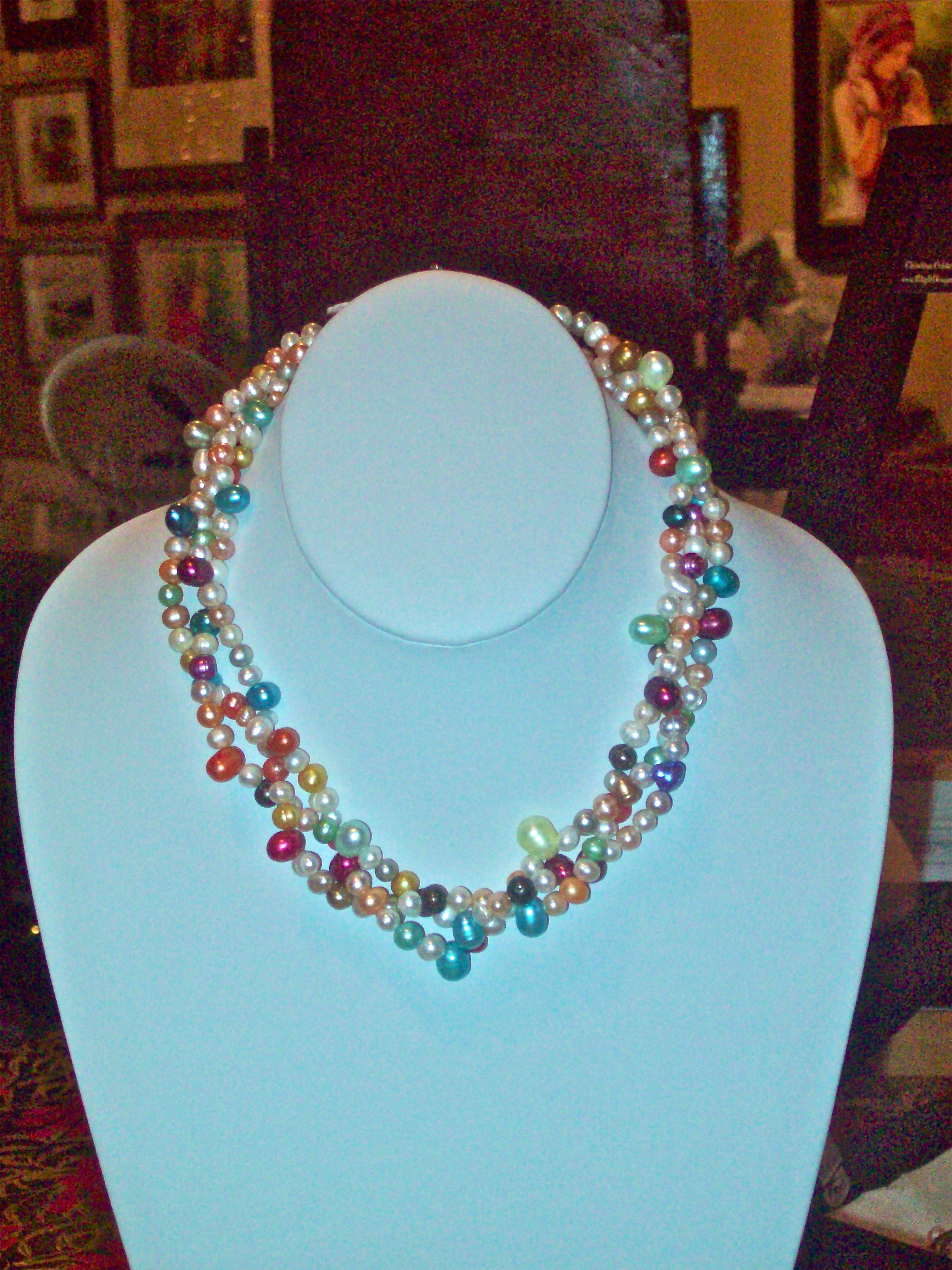 Necklaces 4 Silver Gold Copper Pearls Turquoise Agate
